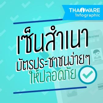 วิธีเซ็นสำเนาบัตรประชาชน ให้ปลอดภัยจากมิจฉาชีพ [Thaiware Infographic ฉบับที่ 38]