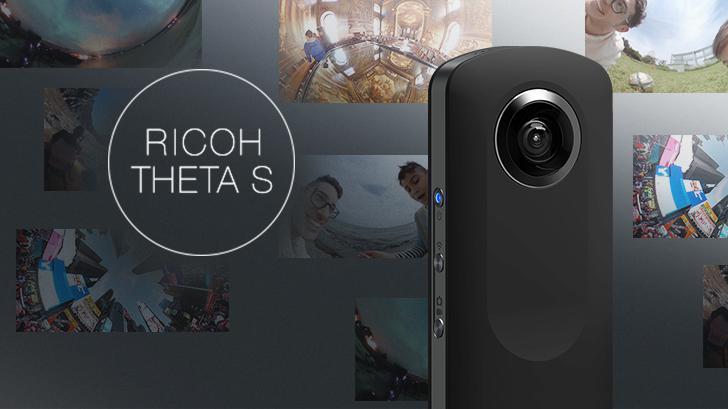 RICOH THETA S Camera 360 เพียงแชะเดียวก็สามารถเก็บภาพได้ทุกมุม หมุนดูได้ทุกองศา