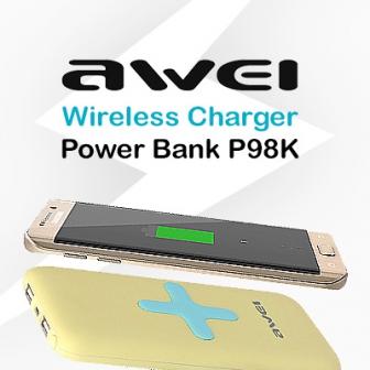แบตสำรองชาร์จไร้สาย Awei Wireless Charger Power Bank P98K วางปุ๊ป ชาร์จปั๊บ