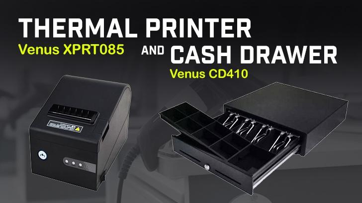 รีวิว ลิ้นชักเก็บเงิน Cash Drawer Venus CD410 และ เครื่องพิมพ์ใบเสร็จแบบความร้อน ThermalPrinter Venus XPRT085 ใช้งานง่าย เหมาะกับร้านค้า และมินิมาร์ทขนาดย่อม