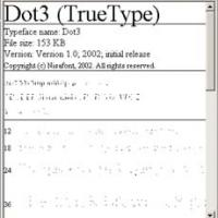 Font Dot 3 (โปรแกรม ฟ้อนต์ ลายจุด)
