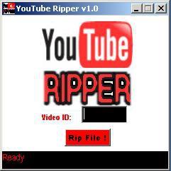 YouTube Ripper (โปรแกรม โหลดไฟล์ วีดีโอ จาก youtube.com มาไว้ในเครื่องเรา)