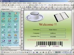 PrintShop SmartVizor (พิมพ์เอกสาร โดยใช้ข้อมูลจาก ฐานข้อมูล ต่างๆ) :