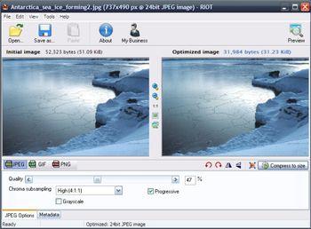RIOT (โปรแกรม ปรับลดขนาดไฟล์รูป พร้อมแต่งรูปในตัว) :