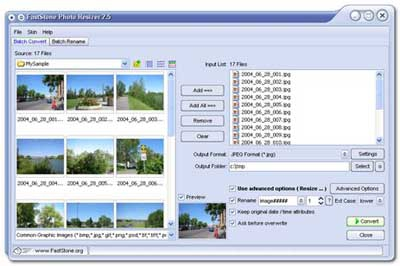 FastStone Photo Resizer (โปรแกรมย่อรูป ขยายรูป ใส่ลายน้ำ โดยไม่เสียความคมชัด) :