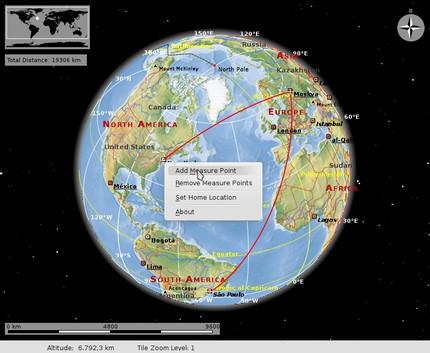 โปรแกรมแผนที่โลก Marble Earth Map