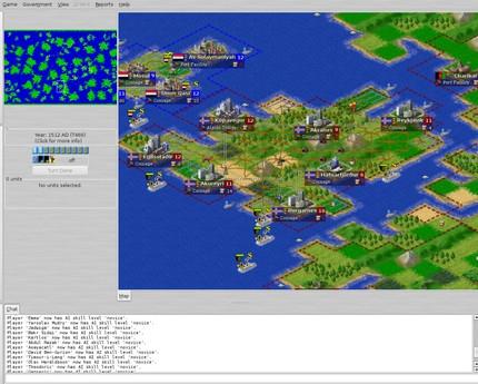 เกมส์สร้างเมือง Freeciv
