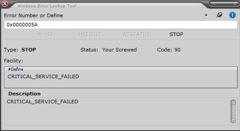 ดาวน์โหลดโปรแกรม Windows Error Lookup Tool