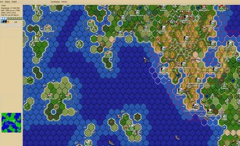 Freeciv (เกมส์สร้างเมือง เหมือน Civilization) :
