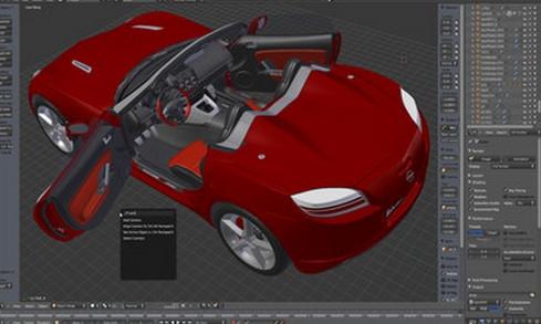 โปรแกรมออกแบบ 3 มิติ Blender