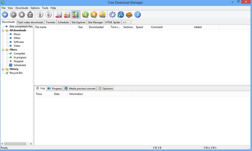 Free Download Manager (โปรแกรม Free DL Manager) :