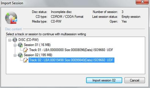 โปรแกรมไรท์แผ่น CDBurnerXP