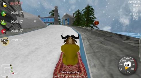 SuperTuxKart (เกมแข่งรถวิบาก เหมือน เกมแข่งรถ MarioKart) :