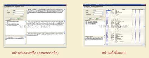 Tungchurmongkol (โปรแกรม Tungchurmongkol ตั้งชื่อมงคล หาชื่อมงคล ดูดวงจากชื่อ) :