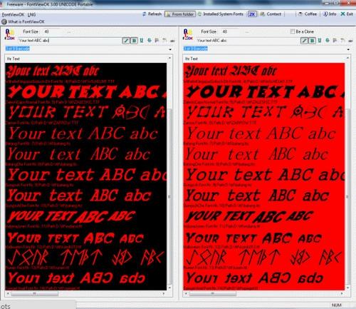 โปรแกรมดู Font รูปแบบตัวอักษร FontViewOK