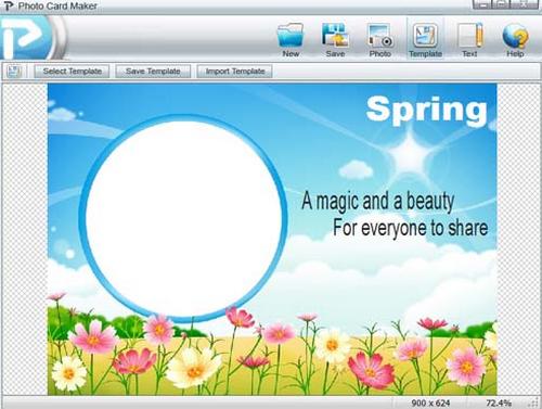 โปรแกรมทำการ์ด ออกแบบการ์ด พิมพ์การ์ด Photo Card Maker