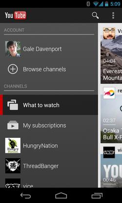 ดู YouTube บนมือถือ
