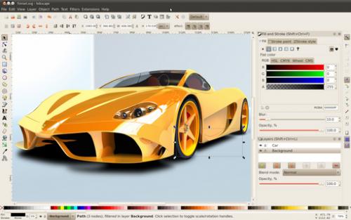 โปรแกรมวาดรูป Inkscape