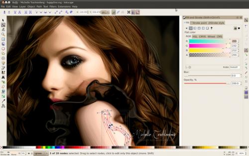 โปรแกรมแต่งภาพ Inkscape