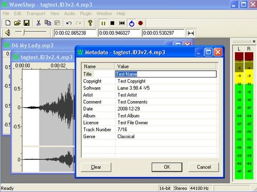 โปรแกรมตัดต่อเสียง WaveShop