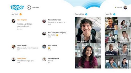 โปรแกรม Skype บน Windows 8