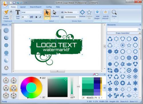 โปรแกรมออกแบบโลโก้ Sothink Logo Maker