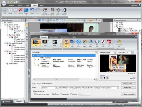 โปรแกรมตัดต่อวีดีโอฟรี Free Video Editor