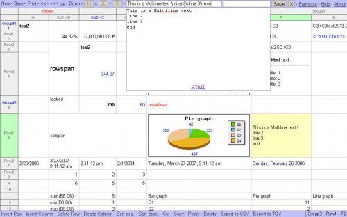 โปรแกรมสเปรดชีต Simple Spreadsheet
