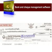Nanosoft Cheque.NET (โปรแกรมสั่งจ่ายเช็คธนาคาร พิมพ์เช็คครบวงจร)
