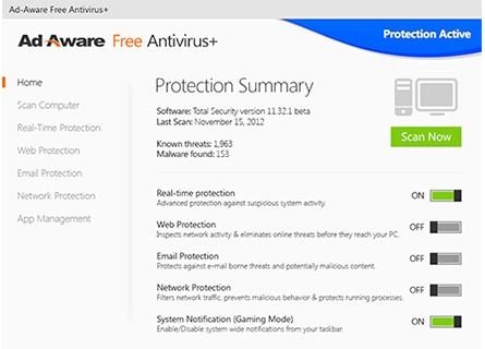 โปรแกรมสแกนไวรัส Ad-Aware ฟรี