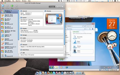 โปรแกรมจำลองวินโดวส์ VirtualBox