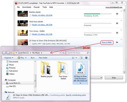 โหลดโปรแกรมโหลด Youtube เป็น MP3 Free YouTube to MP3 Converter