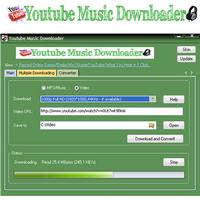 YouTube Music Downloader (โปรแกรมโหลดเพลง Youtube ฟรี) :