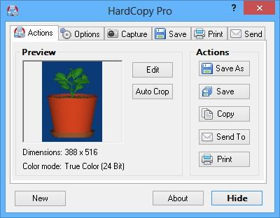 โปรแกรมจับภาพหน้าจอ HardCopy Pro