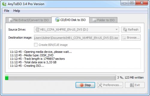 โปรแกรมไรท์ไฟล์ ISO