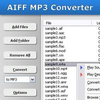 AIFF MP3 Converter (โปรแกรมแปลงไฟล์ AIFF เป็น MP3 และ WAV)