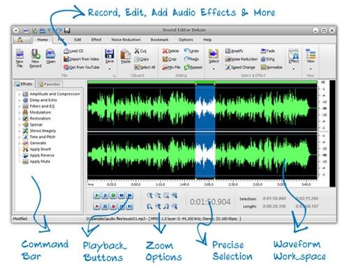 โปรแกรมแต่งเสียง Sound Editor Deluxe