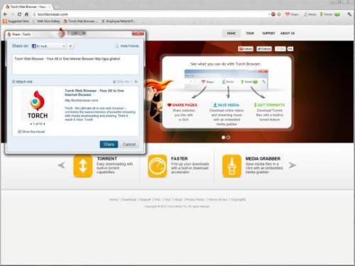 โปรแกรมเว็บบราวเซอร์ Torch Browser
