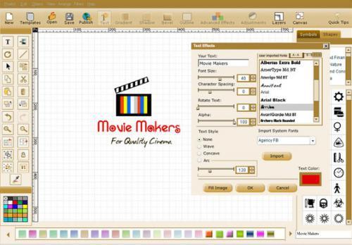 โปรแกรมวาดรูปโลโก้ Quick Logo Designer