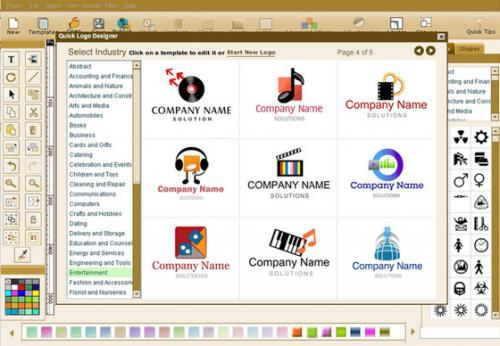 โปรแกรมออกแบบโลโก้ Quick Logo Designer