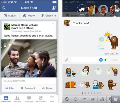 App เฟสบุ๊ค บน Android และ iOS