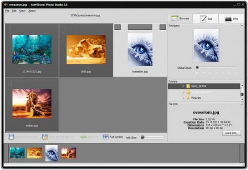 โปรแกรมแต่งภาพ Soft4Boost Photo Studio