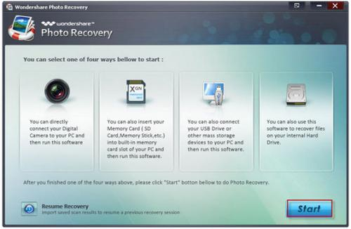 Wondershare Photo Recovery :