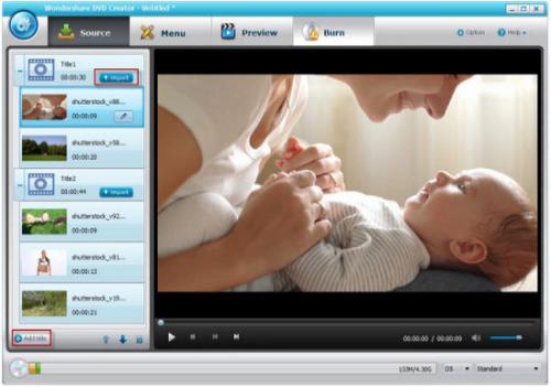 โปรแกรมสร้างดีวีดี Wondershare DVD Creator