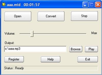 ดาวน์โหลดโปรแกรม MIDI to MP3 Maker