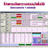 Automatic Timetable Management (โปรแกรมจัดตารางสอนอัตโนมัติ) :