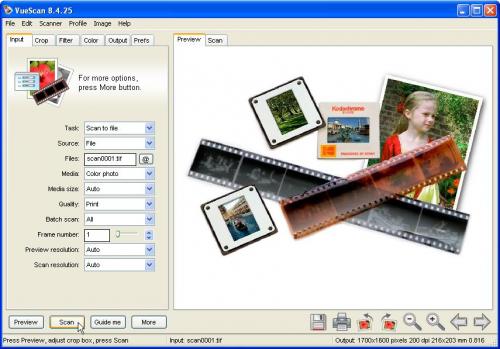 โปรแกรมสแกนรูป VueScan