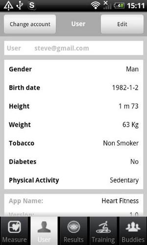 App วัดชีพจร Heart Fitness