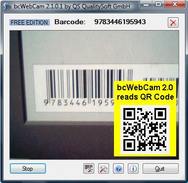 โปรแกรมสแกนบาร์โค้ด bcWebCam