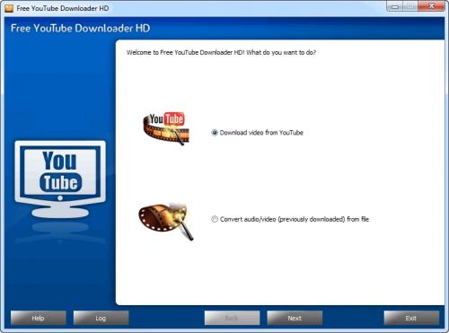 โปรแกรมช่วยดาวน์โหลด Free YouTube Downloader HD